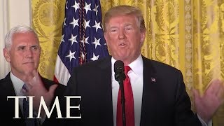 President Trump Calls On Pentagon To Create A 'Space Force' Military Branch | TIME