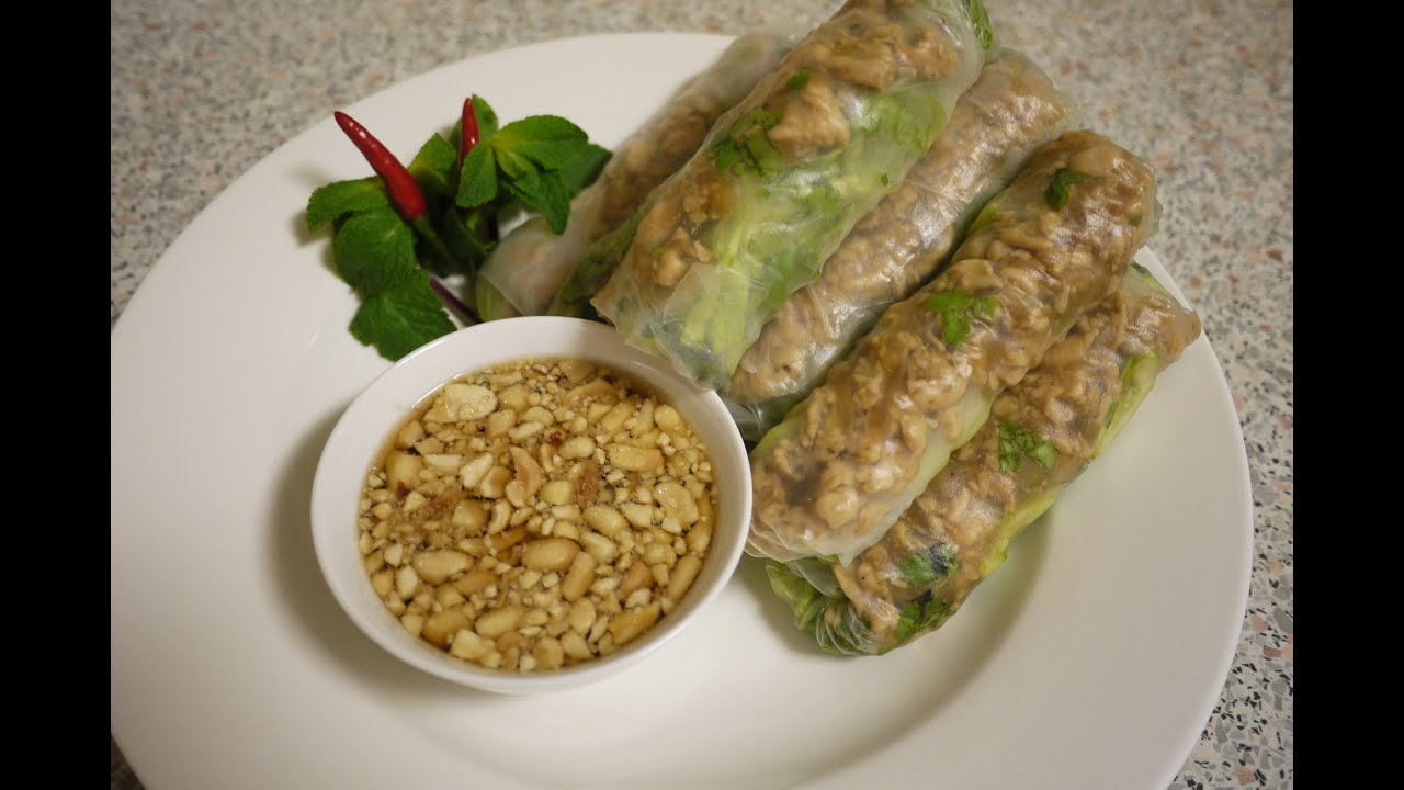 Lao food chicken fresh spring rolls youtube forumfinder Image collections