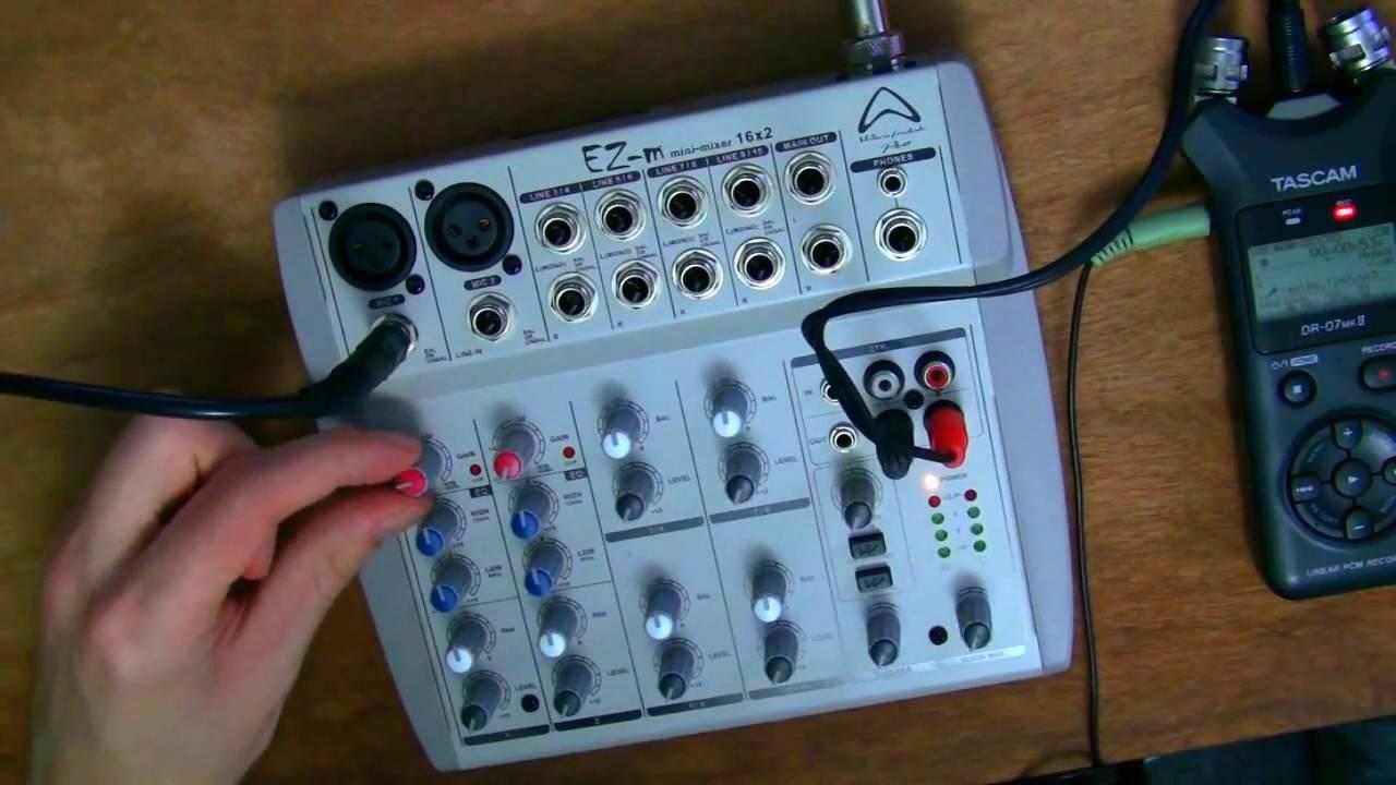 audio mixers the very basics wharfedale pro ez m mini mixer 16x2 youtube. Black Bedroom Furniture Sets. Home Design Ideas