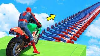 اسبايدرمان طيحات وحركات مضحكة 🐸 GTA 5 - Spider Man Bridge Funny Moments