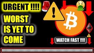 ⚠️URGENT: HORRIFIC BITCOIN PRICE UPDATE!!!!! ⚠️ Crypto Analysis TA/ BTC Cryptocurrency News Today