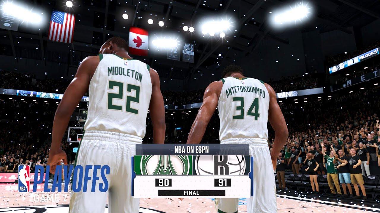 NETS vs BUCKS Full GAME 7 HIGHLIGHTS 4th Qtr | 2021 NBA PLAYOFFS | NBA 2K21