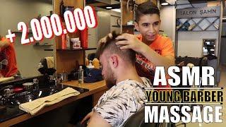 ASMR TURKISH BARBER MASSAGE | ASMR MASSAGE FROM YOUNG BARBER (asmr head massage, asmr scalp massage)