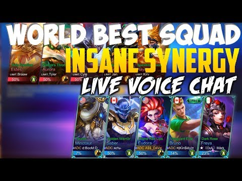 WORLD BEST SQUAD INSANE FIVE MAN GAMEPLAY | MOBILE LEGENDS