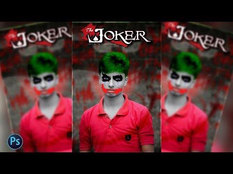 Photoshop CC Tutorial : Batman Joker Face Transformation (Health Ledger) Photo Manipulation thumbnail