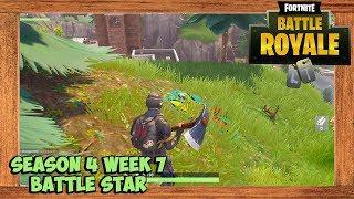 Fortnite Season 4 Week 7 Battle Star (Follow the treasure map found in Pleasant Park Challenge)