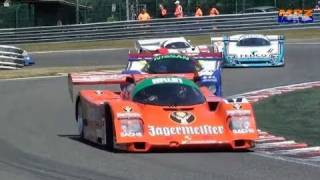 Legendary Group C Cars Spa Classic great Sounds Porsche 956 Sauber C11 Lancia LC2 Gr.C Porsche 962