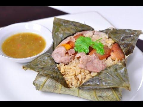 [Thai Food] Rice Wrapped In Lotus Leaf (Kao Hor Bai Bua)