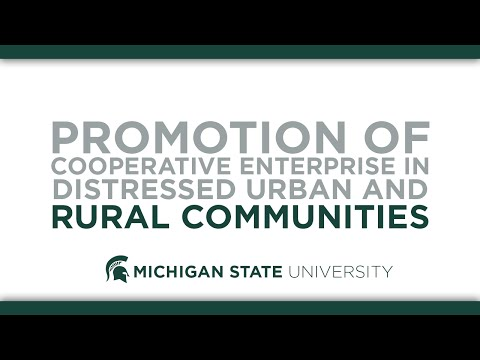 Promotion of Cooperative Enterprises in Distressed Urban and Rural Communities