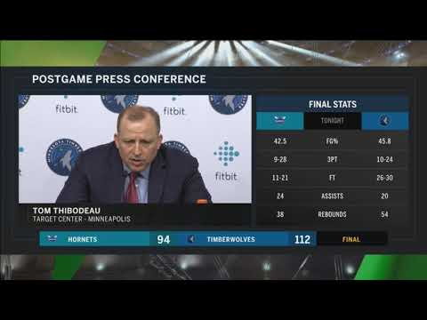 Tom Thibodeau after fifth straight Timberwolves' win