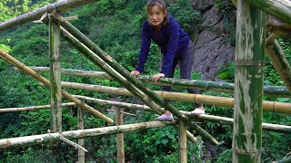 Beautiful Bamboo House - Girl Builds Dream Bamboo House - New Life [Ep2]