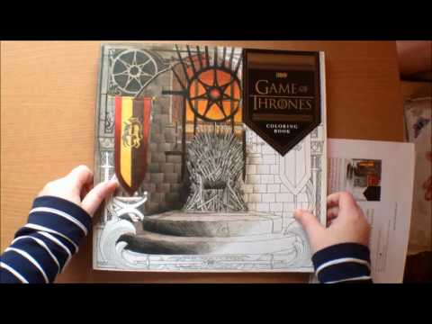 HBO Game of Thrones Coloring Book Flip Through