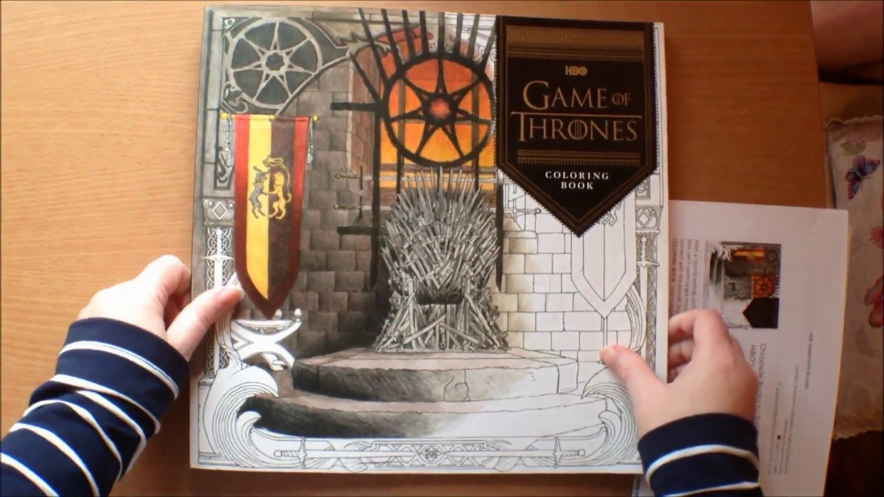 hbo game of thrones coloring book flip through youtube - Game Of Thrones Coloring Book