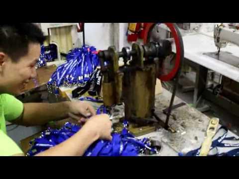 Lanyards  Cutting,stitching,packing