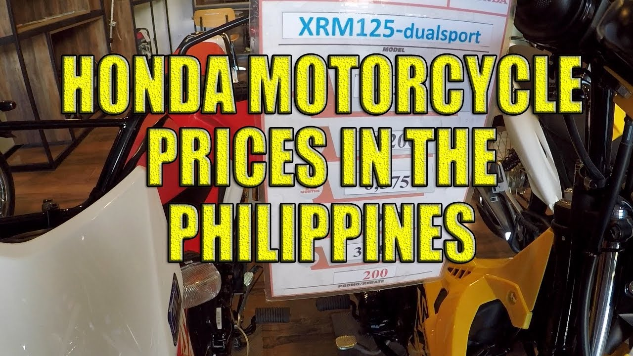 Honda Motorcycle Prices in the Philippines. - YouTube