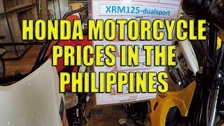 Honda Motorcycle Prices in the Philippines.