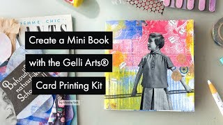 Create a Mini Book with the Gelli Arts® Card Printing Kit