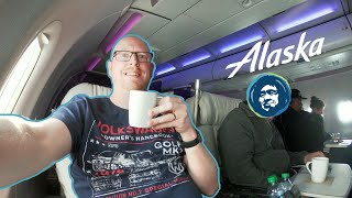 FANTASTIC! Alaska Airlines First Class!