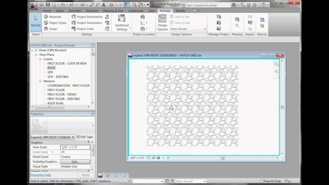 Easy Revit 2011 Xx Create Custom Hatch Patterns Youtube