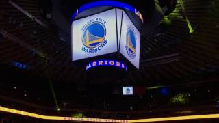 2016-11-26 Timberwolves @ Warriors - roster intro from courtside