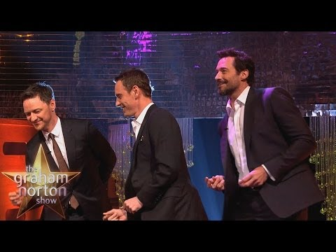 Michael Fassbender, Hugh Jackman & James McAvoy Dance to ...