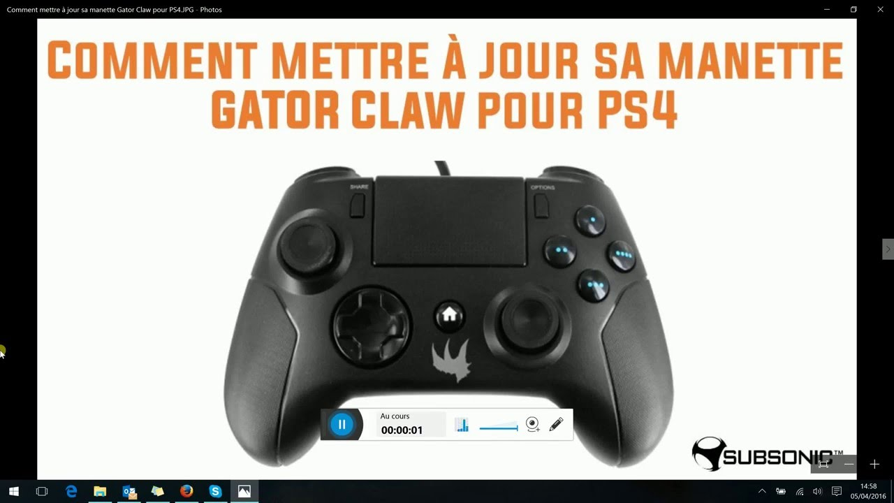 tuto comment mettre jour sa manette gator claw pour ps4 youtube. Black Bedroom Furniture Sets. Home Design Ideas
