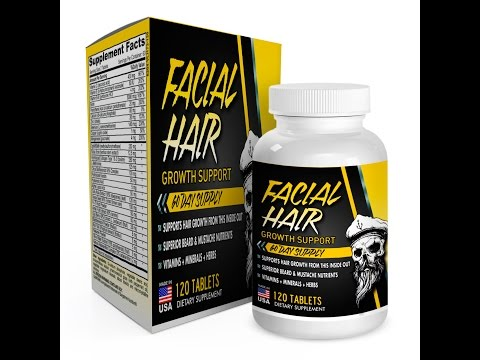 60-Day Facial Hair Growth Supplement / Vitamins (with 28 Beard Growth Nutrients)