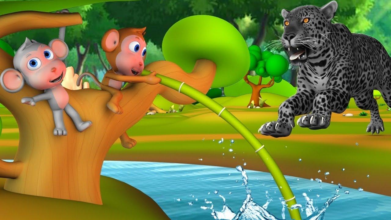 चालाक बंदर और तालाब - Clever Monkey Story | Hindi Panchatantra Moral Stories   3D Hindi Fairy Tales