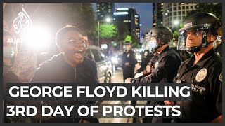 Protests across US as cop charged with murder of George Floyd