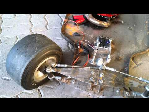 HOMEMADE BIG SCALE RC FORMULA - steering & test