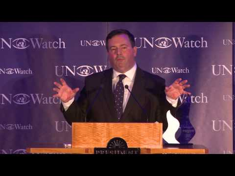 Canadian Minister Jason Kenney Honored at UN Watch Gala Dinner, Receives 2014 Moral Courage Award