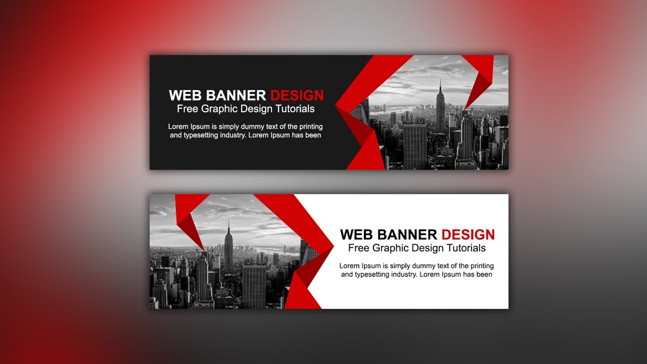 Web Banner Ad Design Tutorial Photoshop Cc Youtube