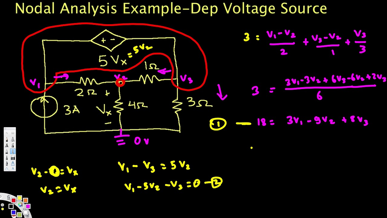 Current Source With Floating Load Nodal Analysis Example Dependent Voltage Circuit