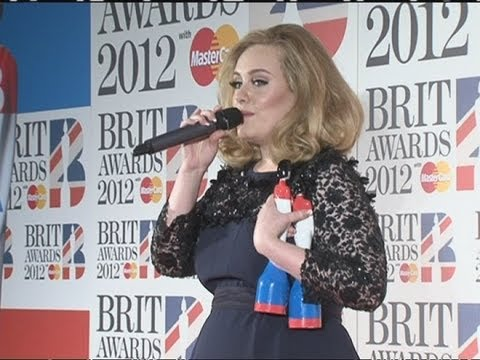 Adele explains why she raised a middle finger during the Brit Awards 2012