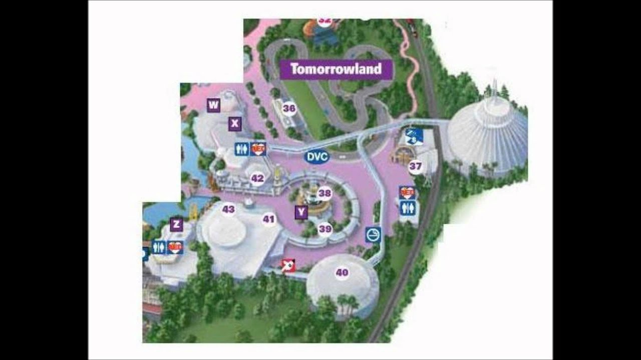 Tomorrowland Disney World Interactive Map - YouTube
