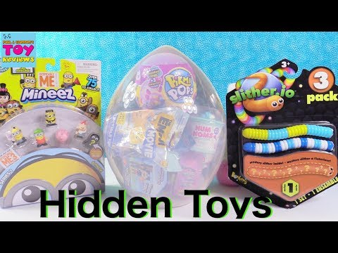 Thumbnail: Slither.io Pikmi Pops Disney Emoji Num Noms Troll Giant Surprise Toy Egg | PSToyReviews