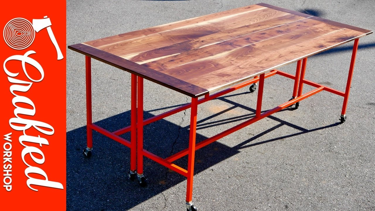 How To Build A Conference Table Dining Table W Walnut Steel - Red conference table