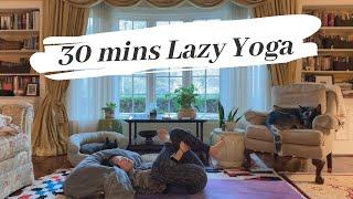 【YOGA】30 minutes Lazy Yoga in a bed l ベッドで出来る30分イングリッシュヨガ
