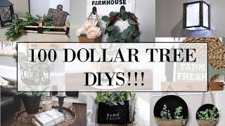 100 DOLLAR TREE DIYS!!! | DIYS EVERYONE CAN DO AT HOME