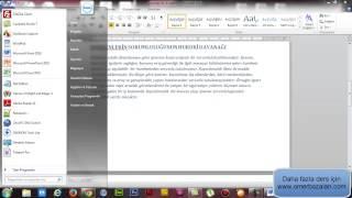 Word Belgeyi Powerpoint Sunusuna Dönüştürme