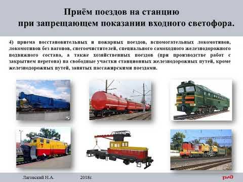 ИДП. Приём поезда при запрещающем показании входного, маршрутного светофора. flv