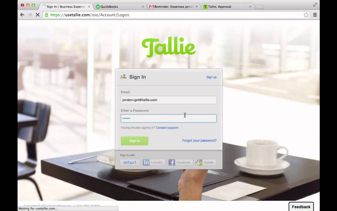 tallie expense report software quickbooks online integration youtube