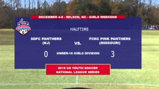 2015 USYS National League - SDFC Panthera vs. FCKC Pink Panthers - U16 Girls - 12pm - Field 1