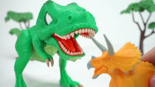 Dino Mecard  SD tiny dinosaur Tyrannosaurus Appears! Defeat Action Figures Tyrrano, Brachio