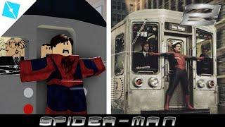 Spider Man Saves Train - Roblox SpeedBuild