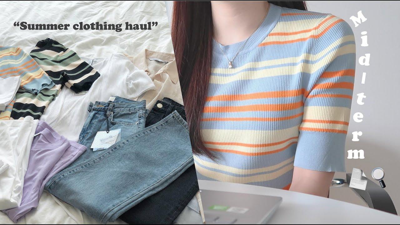 (sub) VLOG 사이버 중간고사 보는 대학생 일상 브이로그, 조별과제 프리라이더 진짜 싫다 (+여름맞이 구매한 옷 하울, 새 노트북) / 수린 surinfilm