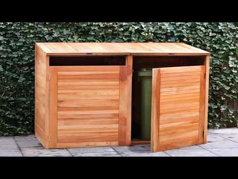 Outdoor Wooden Garbage Box Plans