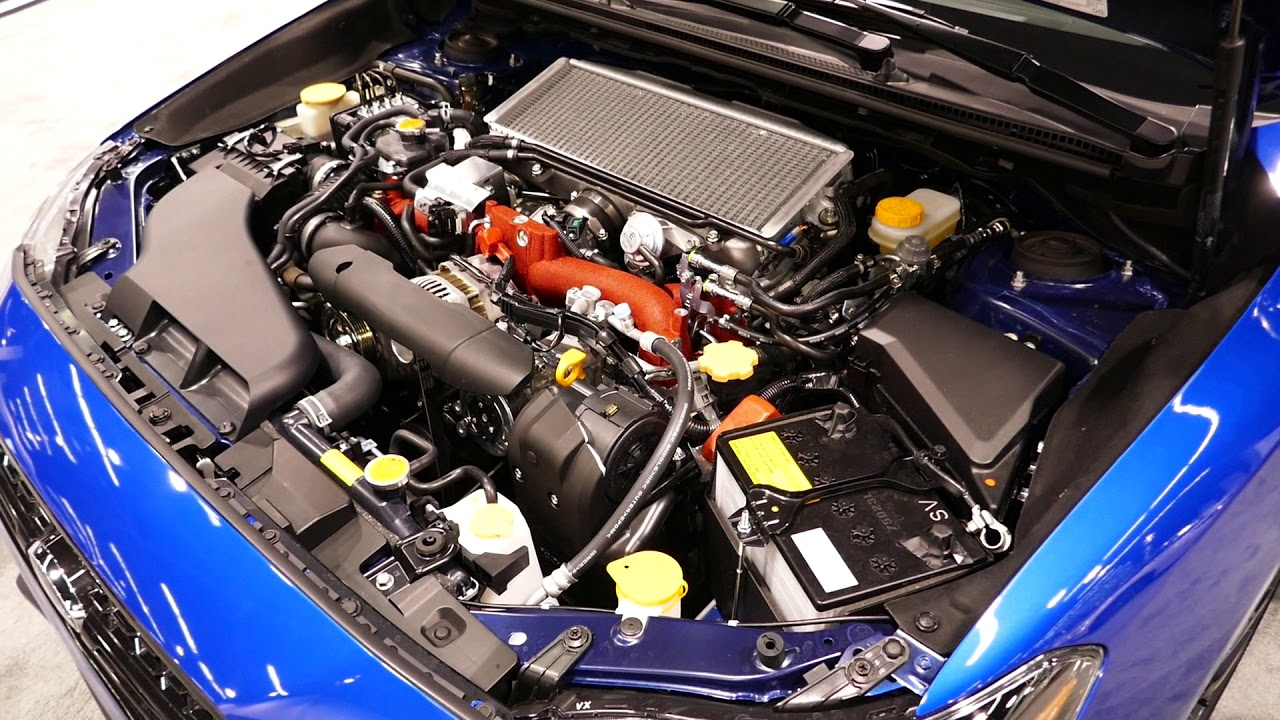 New 2019 Subaru Wrx Sti Limited Engine Bay Tour 2 5l Turbo Boxer