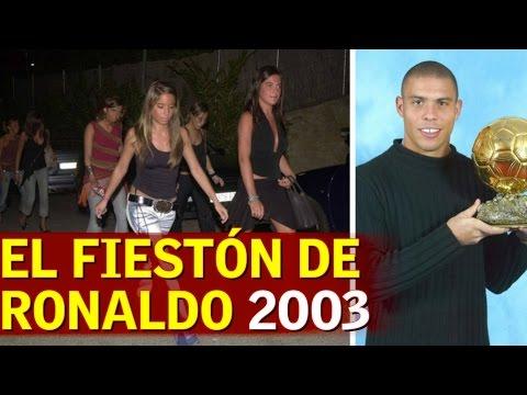 Aquel polémico fiestón de cumpleaños de Ronaldo en 2003 - YouTube