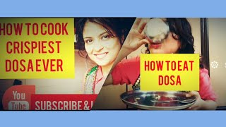 How to Cook n Eat Dosa Recipe | But Tastes Khichdi ! Funny Surprise in the end.How mother